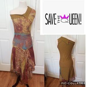 Save The Queen Asmetrical Sleeveless Maxi Dress